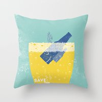 Save the Ales Throw Pillow
