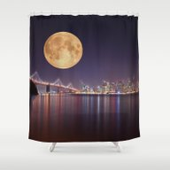 San Francisco Moon Shower Curtain