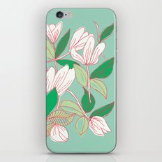 Floating Tulips (mint green) iPhone & iPod Skin