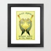 Skyrim: Glass Armor Framed Art Print
