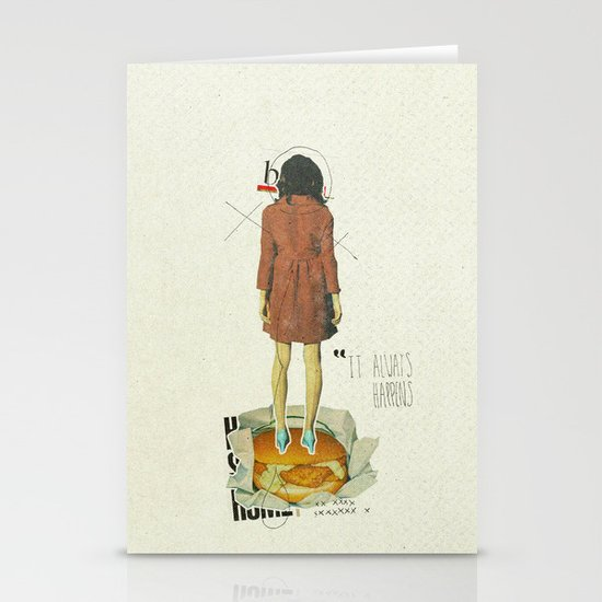 It Always Happens | Collage Stationery Card