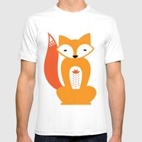 Ferdinand the Fox Mens Fitted Tee White SMALL