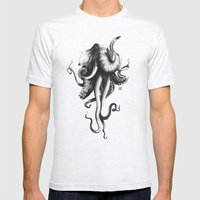 Octoelephant Mens Fitted Tee Ash Grey SMALL