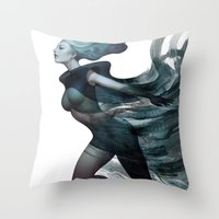 City of Charm Throw Pillow