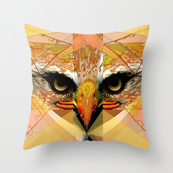Eagle Eyes Throw Pillow