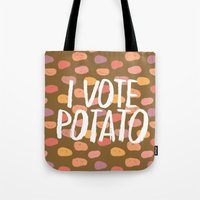 I Vote Potato Tote Bag