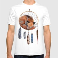 Fox Dreamcatcher Mens Fitted Tee White SMALL