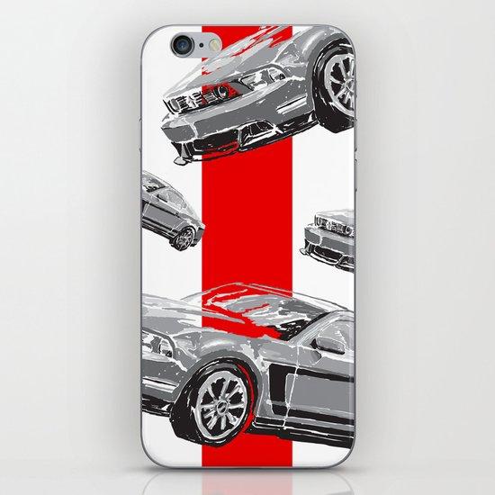 Mustang Digital Painting - Greyscale iPhone & iPod Skin