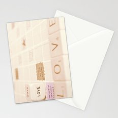 love....double word score Stationery Cards