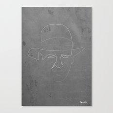 One line Indiana jones Canvas Print