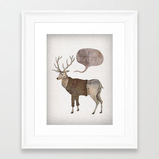 Repeat the Sounding Joy Framed Art Print