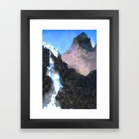 Canadian Mountain Scene Framed Art Print