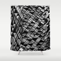 Moving Panes Black & Whi… Shower Curtain