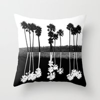 Palm Tree Reflection Throw Pillow