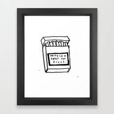 SMOKING ABOUT YOU Framed Art Print