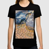 Abstract beautiful rocks on the sand Womens Fitted Tee Black SMALL