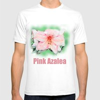 Pink Rhododendron, Azale… Mens Fitted Tee White SMALL