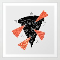 Lazer Pizza Art Print