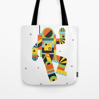 Hello Spaceman Tote Bag