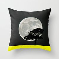 Lone Tree And Moon. Throw Pillow