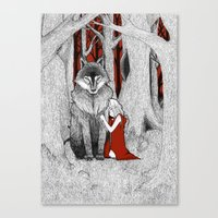 The Wolf & I Canvas Print