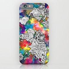 world map mandala colorful iPhone 6 Slim Case