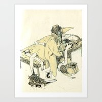 doctor Art Prints featuring doctor by chechula