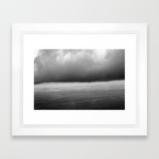 grey skies Framed Art Print