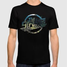 The Strokes Logo Machu Picchu Black SMALL Mens Fitted Tee