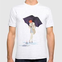 RAINY DAY FLOWER Mens Fitted Tee Ash Grey SMALL