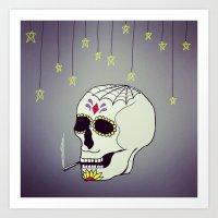 Skull Chill Out Art Print