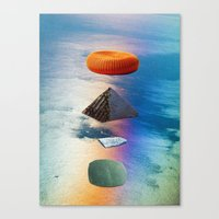 pyramid stack Canvas Print