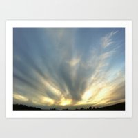 Iowa Sunset Art Print