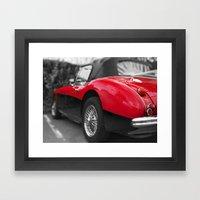 Little Red Healey Framed Art Print