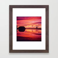 2 friends at the beach Framed Art Print