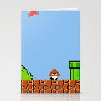 Minion's Last Rites: Mario's Goomba Stationery Cards