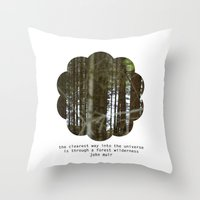 the clearest way into the universe Throw Pillow