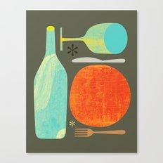 Wine & Dine Kitchen Art Canvas Print