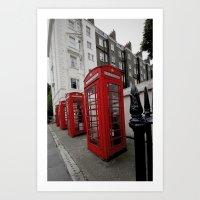 Phone Booths Of London Art Print