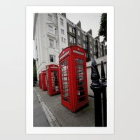 Phone Booths Of London Art Print
