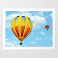 Balloons Over Dubai Art Print