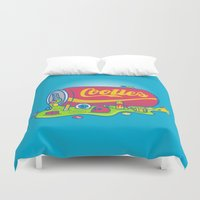 The World has Cooties Duvet Cover
