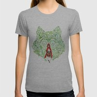 Red Riding Hood Womens Fitted Tee Athletic Grey SMALL