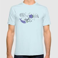 just my luck Mens Fitted Tee Light Blue SMALL