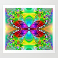 Abstract Jewel Butterfly… Art Print