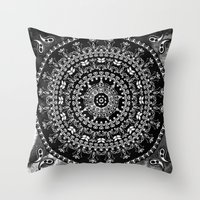 Licorice Mandala Throw Pillow