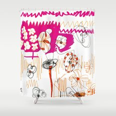 magenta and orange Shower Curtain