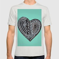 My tribal heart Mens Fitted Tee Silver SMALL