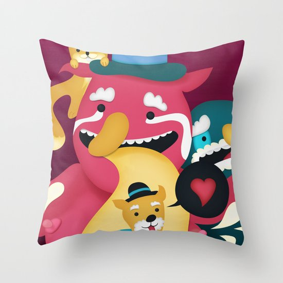 Mmmm Bacon Throw Pillow