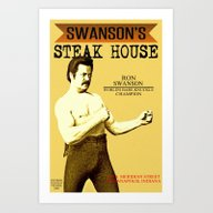 Ron Swanson  |  Steak Ho… Art Print